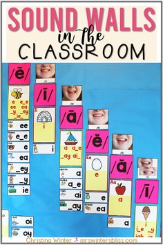 A sound wall is a space in the classroom to display the different sounds heard in speech. They provide support to students who are learning to read, write and spell. In this post we discuss the benefits of using a sound wall in the classroom and how they differ from traditional word walls. #phonics #soundwalls #firstgrade Teaching Kindergarten, Teaching Reading, Learning, Guided Reading, First Grade Phonics, First Grade Reading, Phonics Display, Teaching Phonics, Phonics Lessons