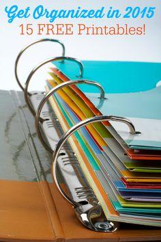 Organízate en 2015-15 imprimibles libres para organizar su vida, incluyendo planificadores de comidas, los horarios de limpieza y mucho más!