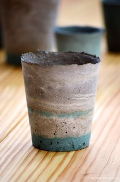 Learn how to make paint-tinted DIY cement succulent planters, pots, bowls…
