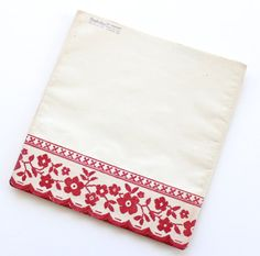 Vintage Royledge Kitchen Shelf Paper Red and White by lisacook