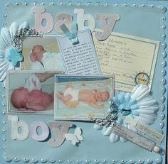 baby boy scrapbook ideas | Baby Boy