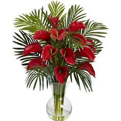 You'll love the Calla Lily and Areca Palm Silk Flower Arrangement with Vase at Wayfair - Great Deals on all Décor products with Free Shipping on most stuff, even the big stuff.