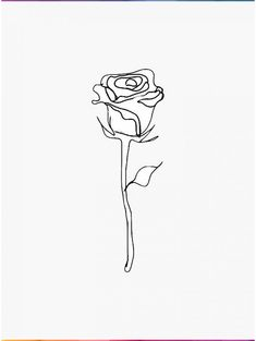 'rose outline ' Sticker by carlac Aesthetic Drawing, Flower Aesthetic, Rose Outline, Drawing Pin, Drawing Wallpaper, Cabbage Roses, Wallpaper Pictures, Most Beautiful Pictures, Pastel