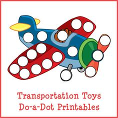 Transportation Toys Do-a-Dot Printables with 29 activity pages  Perfect for kids ages 2+  Instant digital downloads product in PDF format  Supports the development of one-to-one correspondence, shapes, colors, patterning, letters, and numbers