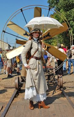 It's the umbrella, adventure girl and Jules Verne style time machine