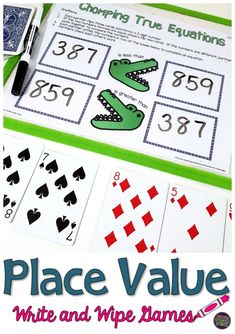 Common Core aligned place value games perfect for grade! Just print, place in a page protector and add simple materials like cards, dice, and dry erase markers! I love these for second grade math centers! Teaching Second Grade, Second Grade Math, Teaching Math, Place Value Games, Classroom Routines, Framed Words, Print Place, Math Graphic Organizers, Math Activities