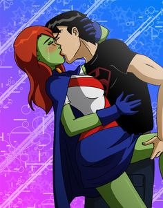 Inspired from a Dark Horse comic image of Spyboy, this picture shows M'gann and Connor giving a last kiss from the end of season one. See on it what you. End of a Season Superboy And Miss Martian, The Martian, Dc Comics, Young Justice League, Dc Couples, Only Teen, Cartoon Ships, Truth And Justice, Dc Super Hero Girls