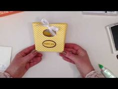 How to make a Mini Tote Bag from Stampin' Up! paper and card - YouTube