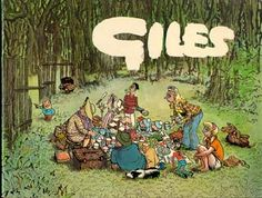 Giles. My late brother, who today might be diagnosed as dyslexic, always thought his name was Giggles, which seems very appropriate!