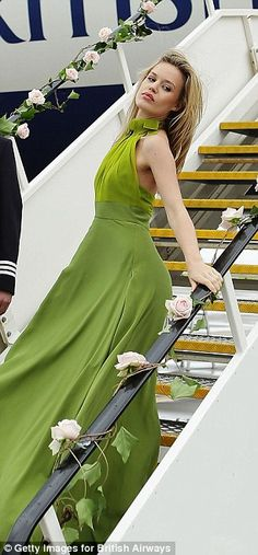Georgia May Jagger leads the way at British Airways catwalk show on board jumbo jet | Mail Online