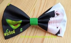 Wicked The Musical Inspired Mens Bow tie,Wicked The Musical Hair Bow, Wedding Bow tie, Bow Ties Are Cool.Geeky Chic