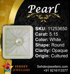 The Weight of Pearl South Sea 8+ is about 5.15 carats. The measurements are -mm x8.98mm x8.88mm(length x width x depth). The shape/cut-style of this Pearl South Sea 8+ is Round.   #pearl  #pearlgemstone #moti #motistoneonline #shoping #shoppingonline #bestprice #pearlmotistone #benefitsofpearlstone #jewellery #jewels #jewelsonline #nature #naturalstone #finegems #fashion #fashionable #luxury #lifetsyle #Sehdevjewellers