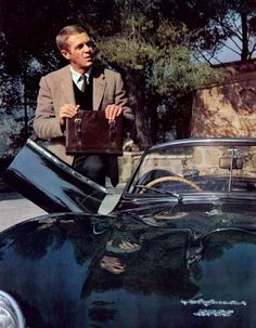 "themaninthegreenshirt: ""Steve McQueen and Jaguar XKSS "" @alice-quinn-at-oxford Steve and his Jag are waiting for you…"
