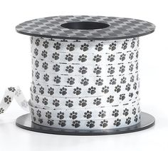 Paw Print Dog Cat Curling Ribbon - 200 Yards: 200 yards of Curling Paw Print Ribbon. Ribbon measures wide x 200 yards long.Great with our paw print balloons, for crafting or wrapping gifts. Puppy Party Supplies, Horse Supplies, 200 Yards, Printed Balloons, Kittens And Puppies, Pet Store, Dog Treats, Dog Toys