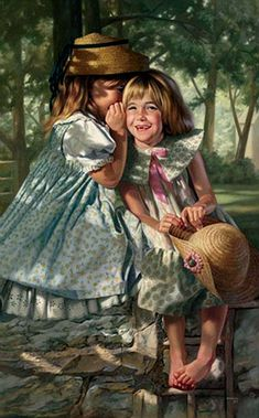delightful secret - childhood in pictures - Bob Byerley (American artist, born 1941).