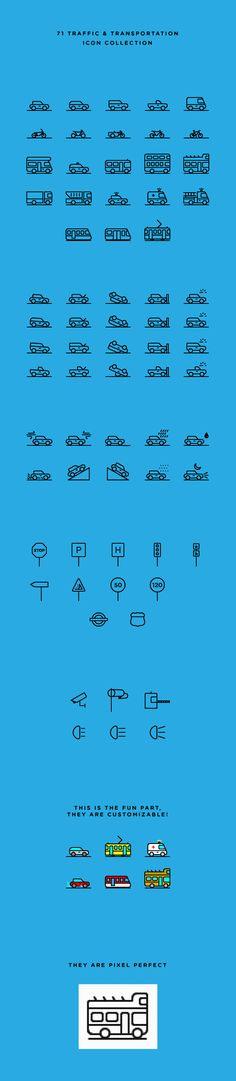 Free 71 Traffic & Transportation Icons