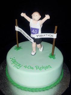 Marathon Runner Cake cakepins.com