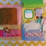 Quiet Book Dollhouse – Bed & Bath Page
