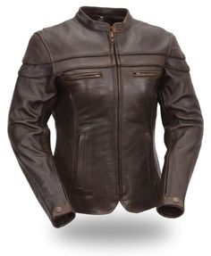 First Classics Women's Brown Sporty Scooter Jacket