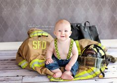 Traci Ryant Photography: Babies  Fire Fighter theme! Adorable!!