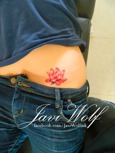 Lotus flower tattoo Tattooed by Javi Wolf - Flower Tattoo Designs Lotus Tattoo Design, Simple Lotus Tattoo, Flower Tattoo Designs, Flower Tattoos, Realistic Lotus Tattoo, Red Lotus Tattoo, Watercolor Lotus Tattoo, Flower Watercolor, Neue Tattoos
