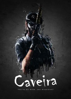 "Rainbow Six Siege Characters Caveira #Displate artwork by artist ""TraXim"". Part of a 33-piece set featuring artwork based on characters from the popular Rainbow Six video game. £37 / $49 per poster (Regular size), £74 / $98 per poster (Large size) #RainbowSix #RainbowSixSiege #TomClancy #TomClancysRainbowSix #Rainbow6 #Rainbow6Siege #TomClancysRainbow6 #Ubisoft"