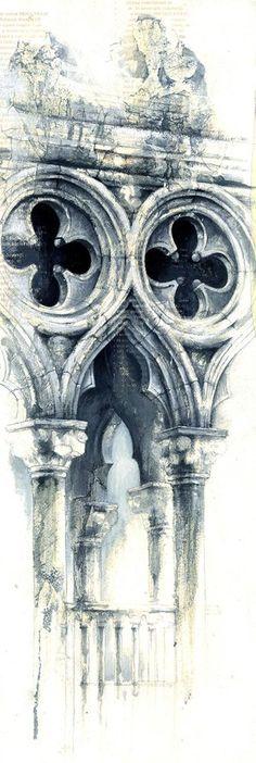 Venetian Series Gallery — Ian Murphy Artist Architecture Sketchbook, Art And Architecture, Art Sketches, Art Drawings, A Level Art Sketchbook, Art Alevel, Building Art, Environmental Art, Art Inspo