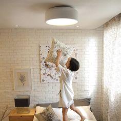 Simple 14.1 Diameter 3-Light Modern Flush Mount Ceiling Light