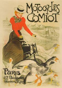 Cycles Comiot : Plaque décorative rétro en métal représentant les cycles Comiot. Idéal pour créer une décoration vintage dans un garage, un atelier de réparation ou chez un vendeur de vélo.