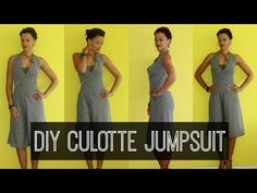 How-to DIY Culotte Jumpsuit | DIY Clothes - YouTube