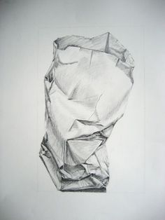 Paper Bag Drawing Warm up for a charcoal still life Drawing Projects, Drawing Lessons, Drawing Techniques, Art Lessons, Still Life Sketch, Still Life Drawing, Drawing Bag, Paper Drawing, Costume Design Sketch