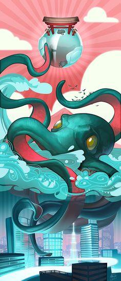 Tokioktopus by NaRai.deviantart.com on @deviantART
