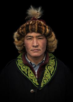 Kazakh eagle hunter. Republic of Kazakhstan
