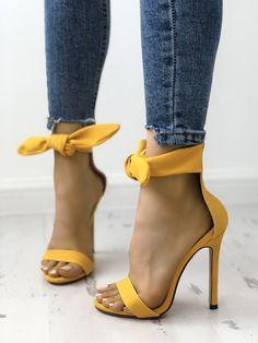 85e5d5cff34 Shop Peep Toe Thick Strap Ankle Tie Stiletto Sandals – Discover sexy women  fashion at IVRose