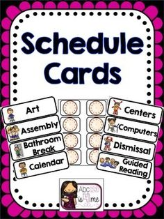 Schedule CardsDue to the many requests for specific schedule cards, I decided to offer this editable version of my most popular freebie. Classroom Schedule, Classroom Labels, Kindergarten Classroom, School Classroom, Classroom Organization, Classroom Management, Classroom Ideas, Kindergarten Centers, School Schedule