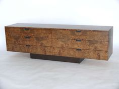 Burled Olivewood Credenza by Dunbar | From a unique collection of antique and modern credenzas at https://www.1stdibs.com/furniture/storage-case-pieces/credenzas/