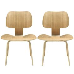 Fathom Dining Chairs Set of 2 in Natural - Modway|MDW_EEI-870-NAT