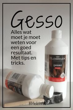 Wat is Gesso? Alles wat je moet weten over Gesso. Hobbies And Crafts, Diy And Crafts, Acrylic Painting Tips, Gelli Arts, Art Tips, Hoe, Diy Projects To Try, Painting Techniques, Painting Tutorials