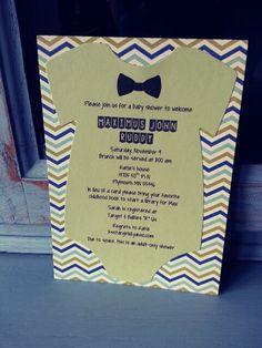 Boy baby shower invitations!