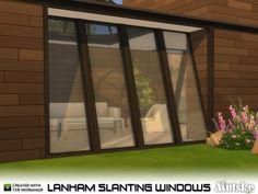 Lanham Slanting Windows by mutske at TSR via Sims 4 Updates