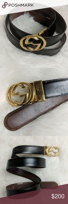 6bd39a0fc Men's Authentic Gucci Black Leather Belt 43