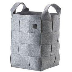 Zone vasketøjskurv - Hide - Grå Praktisk vasketøjskurv i kraftigt filt