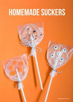 Homemade Suckers on iheartnaptime.com