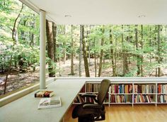 Olive Tree Library on Catskill Mountains, New York by Peter L. Gluck and Partners