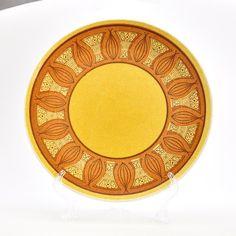 Vintage Dinner Plate - Anchor Hocking - Honey Gold on Etsy $7.50 & 2 Vintage Salem North Star Dinner Plates Atomic Retro Pattern ...