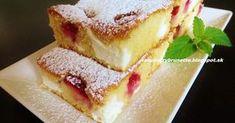 Jednoduchá, rýchla, výborná, veľmi jemná a šťavnatá bublanina. potrebujeme: 3 vajcia 1 hrnček cukru (hrnček 2,5 dcl) 2 dc... Cheesecake, Czech Recipes, Sweets Cake, Pound Cake, Relleno, Sweet Recipes, Nom Nom, French Toast, Sandwiches