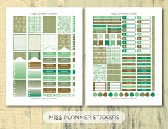 50% OFF SALE // Mint & Gold Kit Printable by missplannerstickers