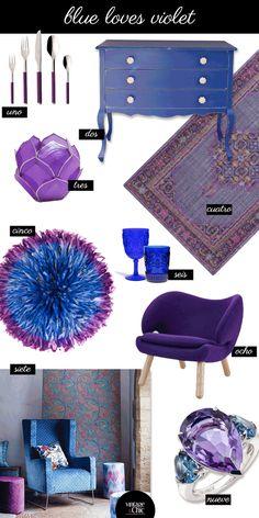 El azul ama al violeta. La naturaleza y Disney lo saben · Blue loves violet. Nature and Disney know it