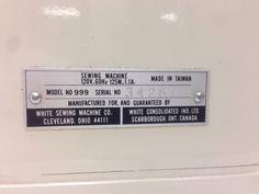 White 999 Precision Built Zig Zag Sewing Machine | EBay