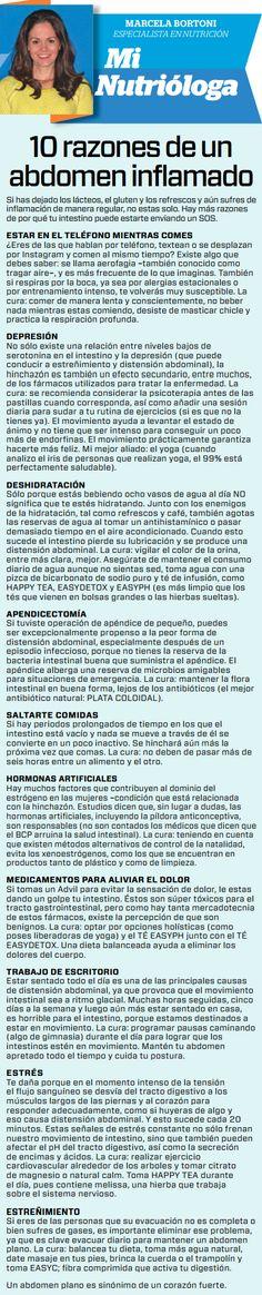 Periódico El Horizonte - 10 razones de un abdomen inflamado